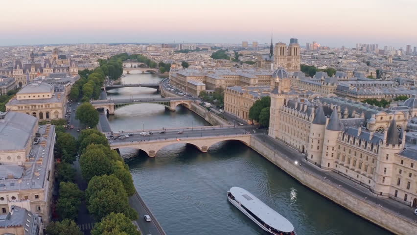 Aerial view of Paris, France.  | Shutterstock HD Video #16481050