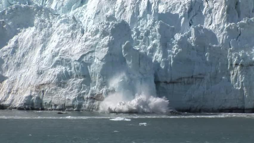 Ice Falling off a Glacier