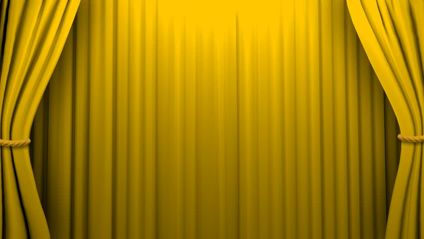 Green Curtains black green curtains : Gold Stage Curtain On Black Background. Loop Able 3D Render ...
