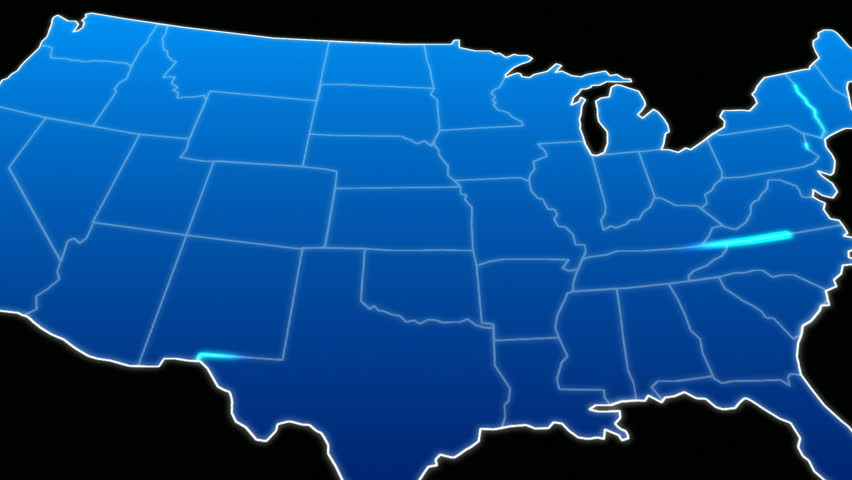 USA Map Pulsing