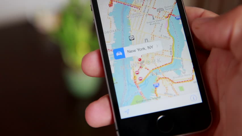 Close-Up Of Hands Using Google Maps In Smart Phone. Man Holds Phone In Hands And Uses Gps #16770841