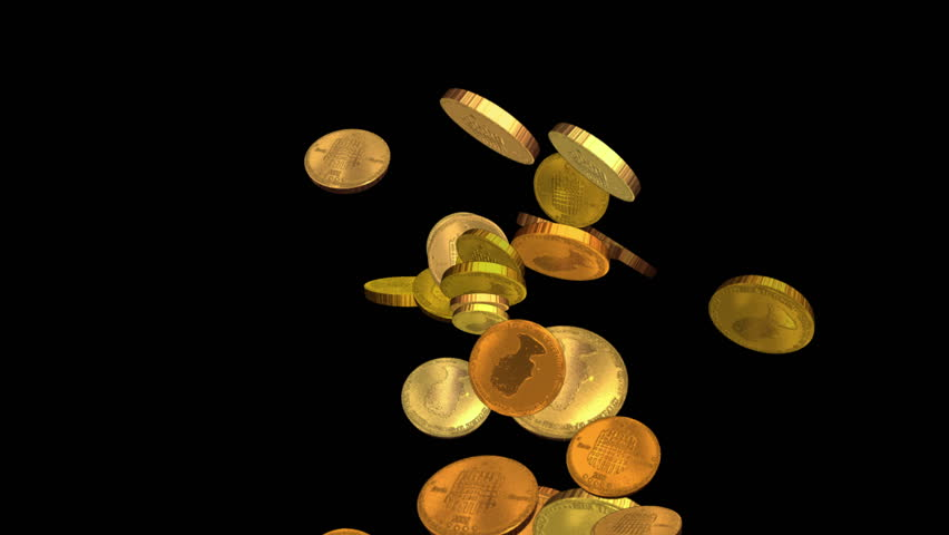 gold coins black background - photo #28