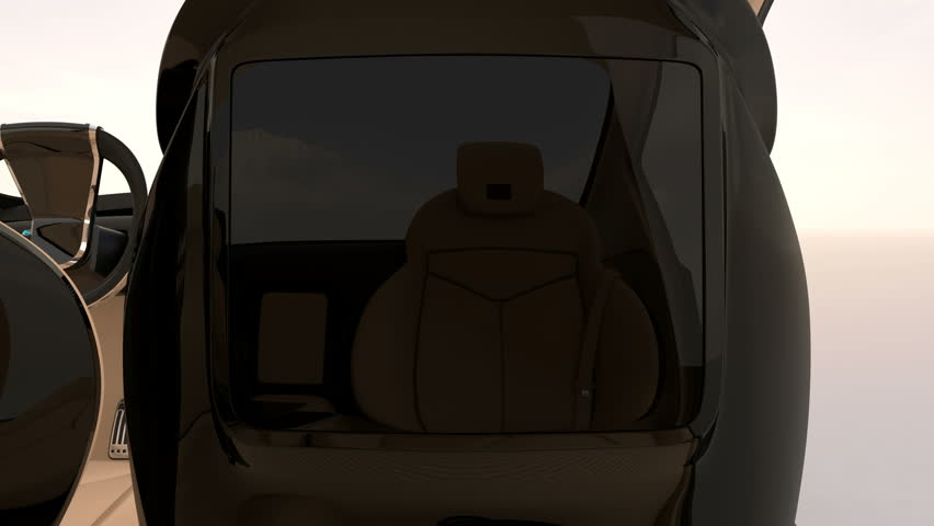 3D animation of seat mounted monitor user interface demonstration.