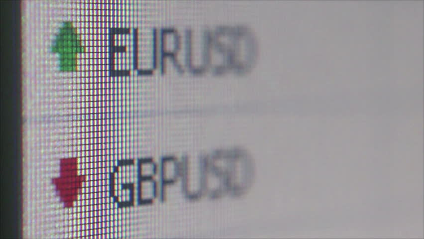 SINGAPORE - CIRCA MAY 2016 - Macro ECU of currency figures on a financial services website & background cursor movement. Fintech describes an emerging financial services sector in the 21st century.