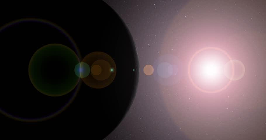 The sun bursts into view over Mercury's horizon and illuminates the surface. Data: NASA/JPL.   Shutterstock HD Video #17107180