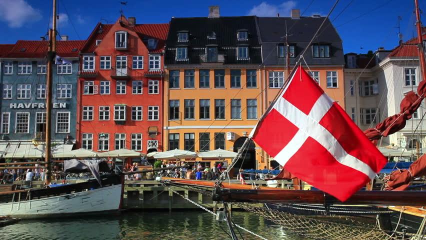 DENMARK - JULY 2010: Boat harbor in Copenhagen, Denmark.