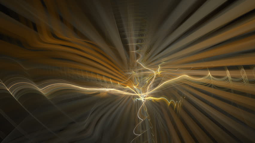 Orange rays and swirls â?? seamlessly looping flame fractal animation.