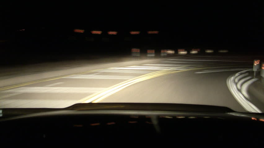 Drunk Driving DUI at Night Driver POV