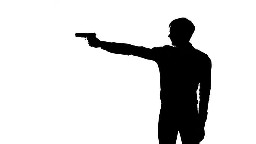 Man Firing Gun Animation Silhouette Stock Footage Video ...
