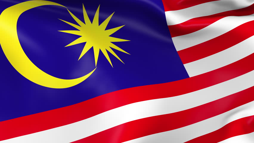Flag of malaysia beautiful 3d animation of the malaysia for 3d wallpaper for home malaysia