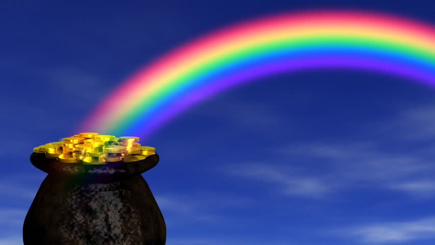 Image result for pot of gold at the end of the rainbow