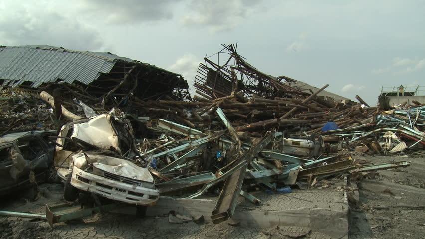 Destruction After Japan Tsunami