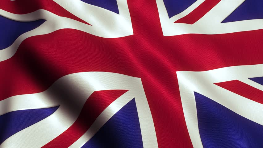 British UK Flag. Seamless Looping Animation. 4K High Definition Video