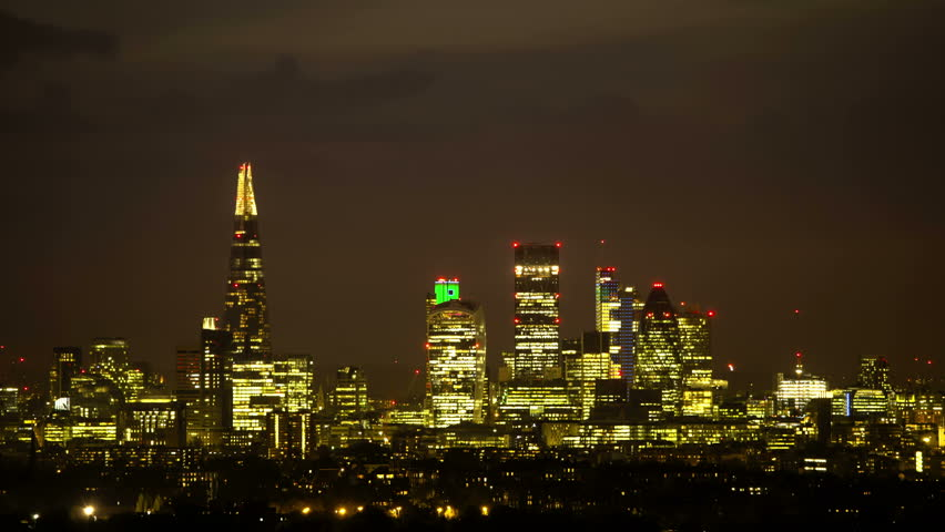 Night to day City Of London Time Lapse Dramatic...
