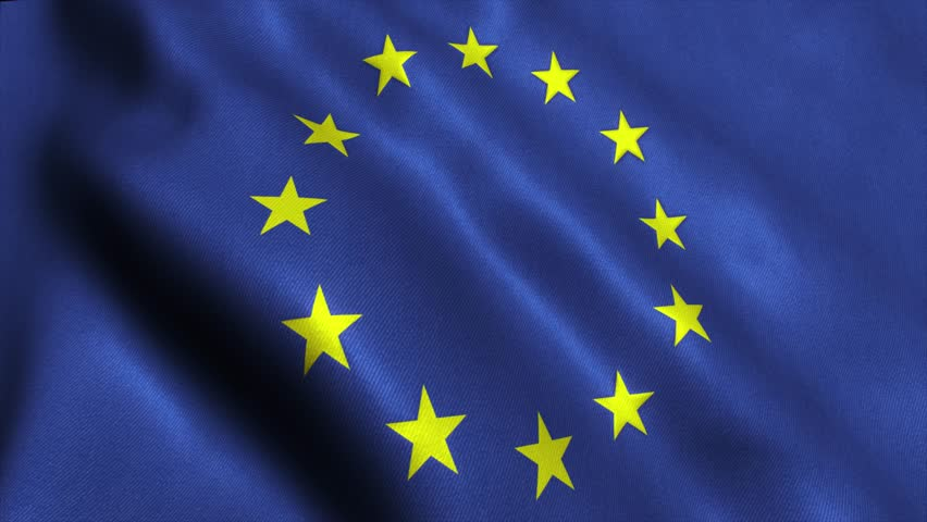 Europe EU Flag. Seamless Looping Animation. 4K High Definition Video