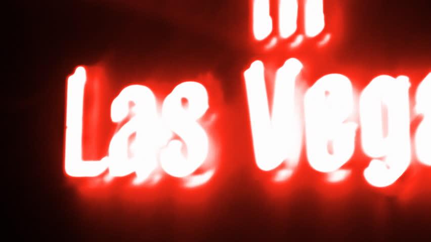 Las Vegas Red Neon Sign