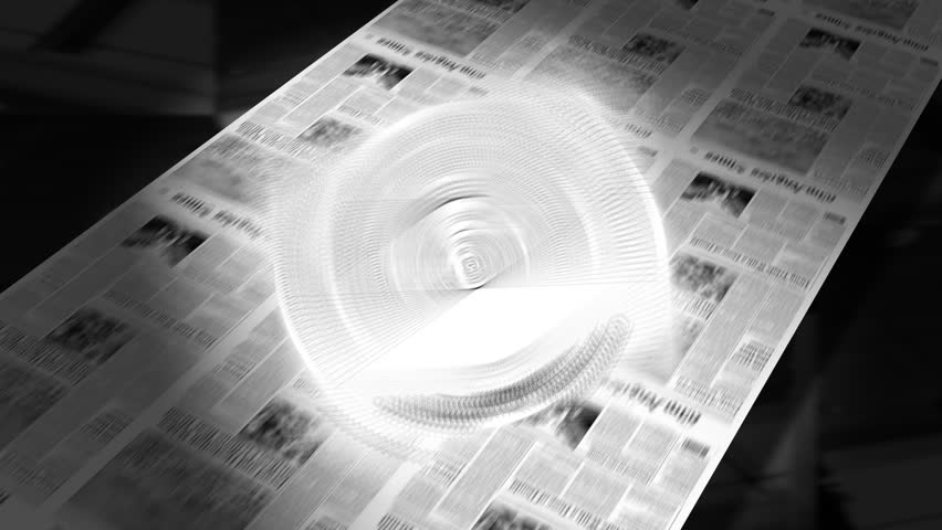 Blank - Newspaper Headline Intro + Loops