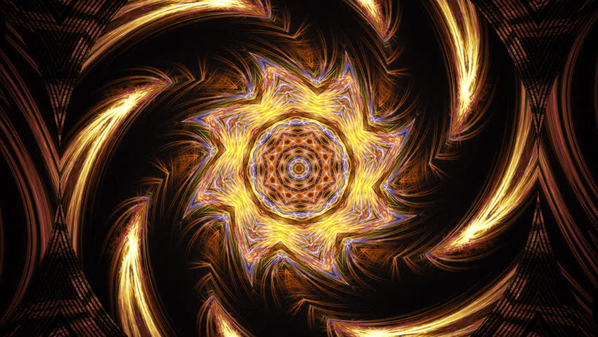 Highly complex flame fractal animation with intense pulsing and swirls. Seamlessly looping flame fractal.