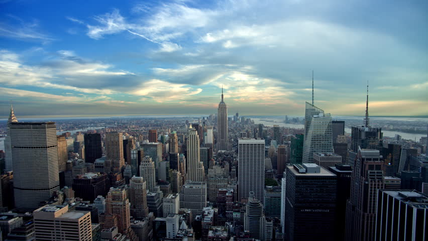 Manhattan cityscape from day to night - seamless loop - NYC timelapse    Shutterstock HD Video #17769625