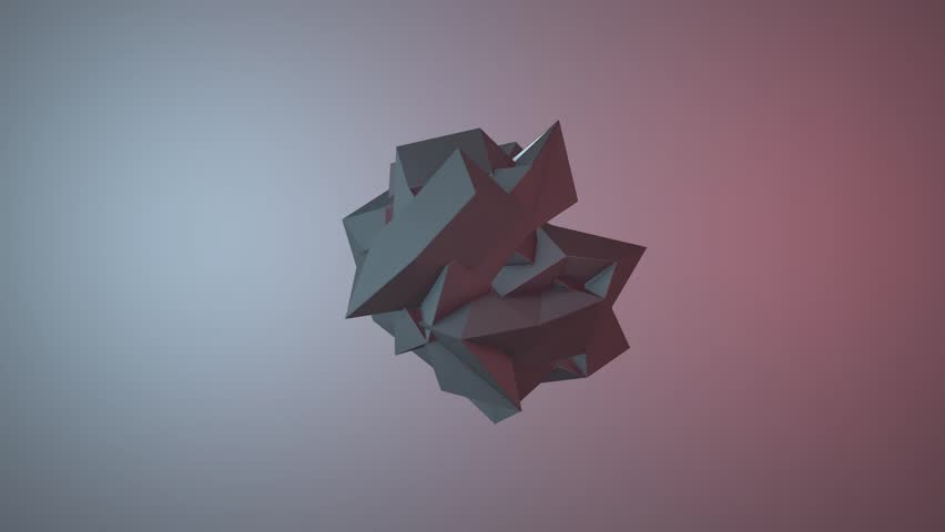 Abstract animated object VJ Loop, 3D animation