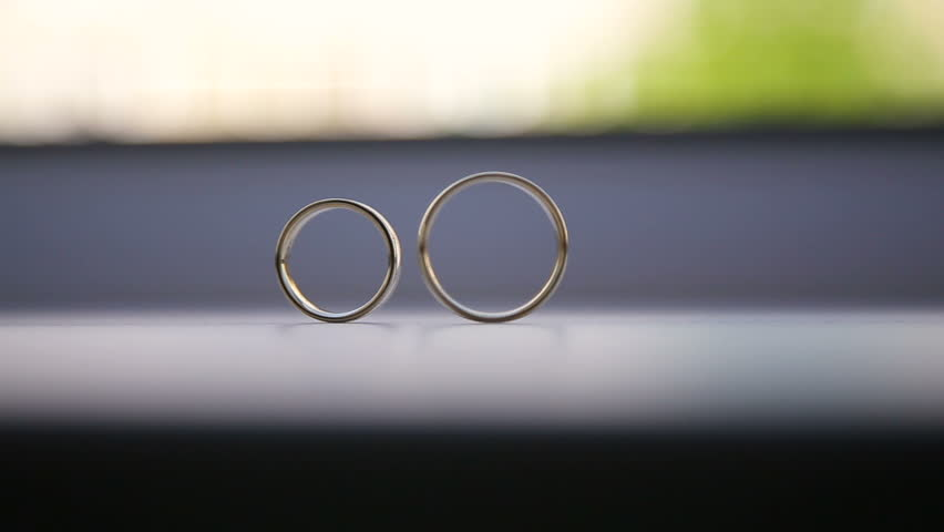 Wedding Ring Rolling Stock Footage Video Shutterstock