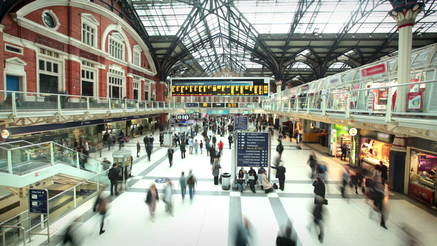 Liverpool Street Station at Rush Hour, London #17867353