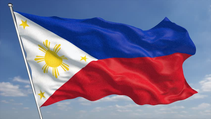 Philippine flag stock footage video shutterstock - Philippine flag images ...