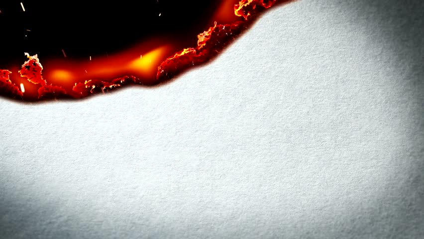 White paper burning in flames. Useful for Transitions, titles and Effects.. UHD