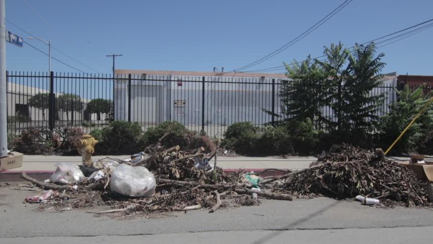 Header of trash pile
