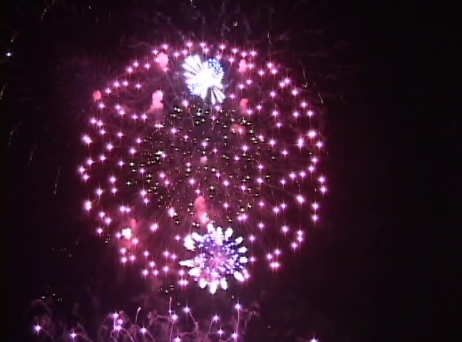 Plate Of Exploding Fireworks Stock Footage Video 1683001 ...