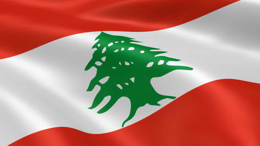 Lebanon Flag Stock Footage Video - Shutterstock
