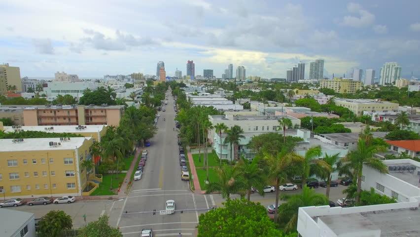 Aerial Miami Beach neighborhoods