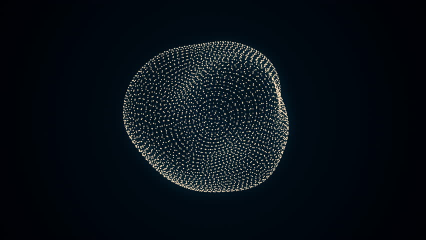 metamorphose of amorphous shape from dots and lines, abstract animation of future shape 4K | Shutterstock Video #18294355