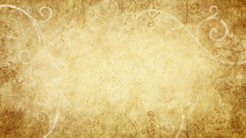 yellow retro flourishes frame loop background