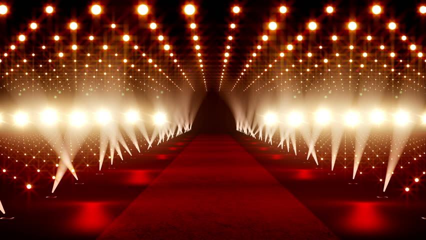 Red Carpet festival scene animation