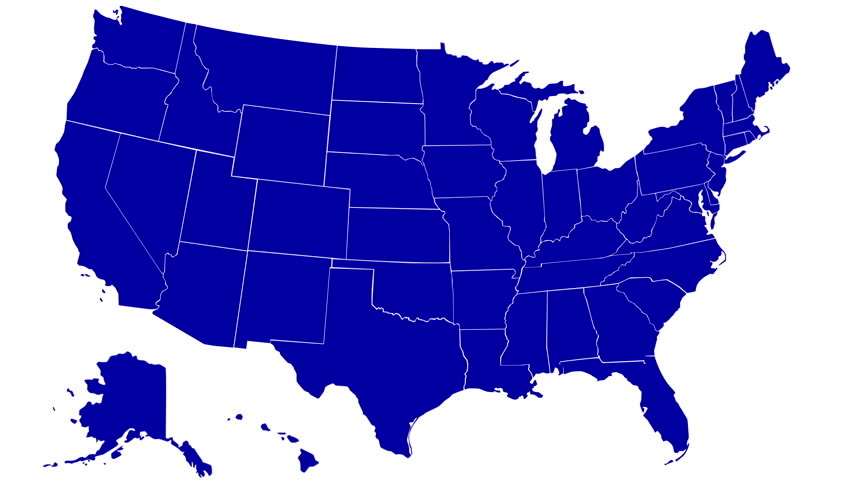 State Of Tennessee Map Reveals From The Usa Map Silhouette Animation Hd Stock Footage Clip
