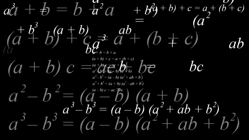 Background With Mathematical Formulas