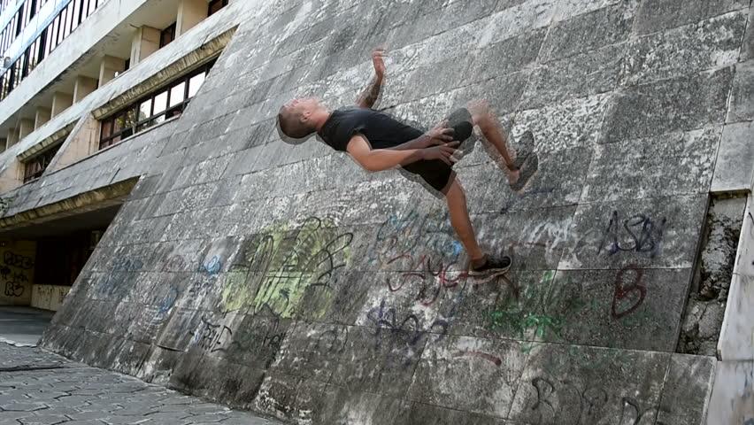 Compilation of Parkour, freerun gymnasts sport