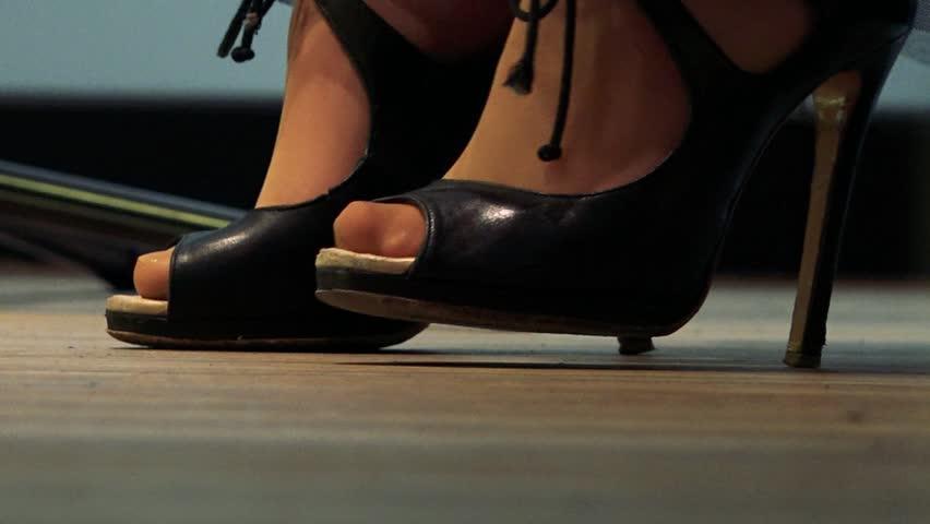 High Heels Legs Stock Footage Video | Shutterstock