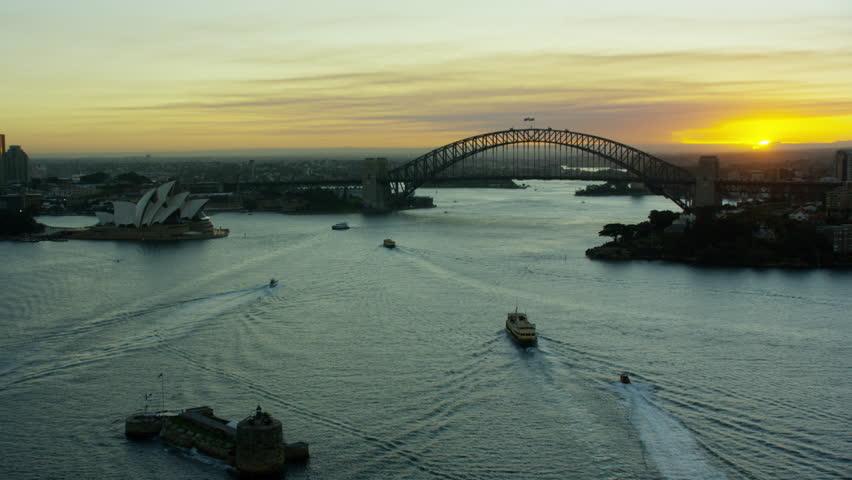 Sydney harbour aerial landscape royalty free stock photography image - Sydney Australia 2016 Aerial Sydney Harbor Harbour Bridge Sydney