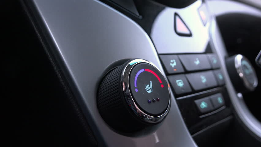 Regulator temperature cold and hot air heated front driver's seat in the car of the 21st century
