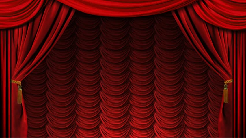 Curtains Ideas curtains background : Luxury Gold Frame On Red Curtains Background Stock Footage Video ...