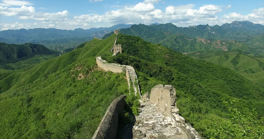The Great Wall. Drone shot