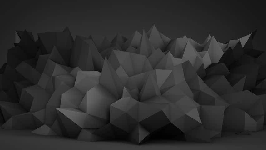 Black surface in studio. Semless loop abstract 3D render animation. 4k UHD (3840x2160) | Shutterstock HD Video #18991729