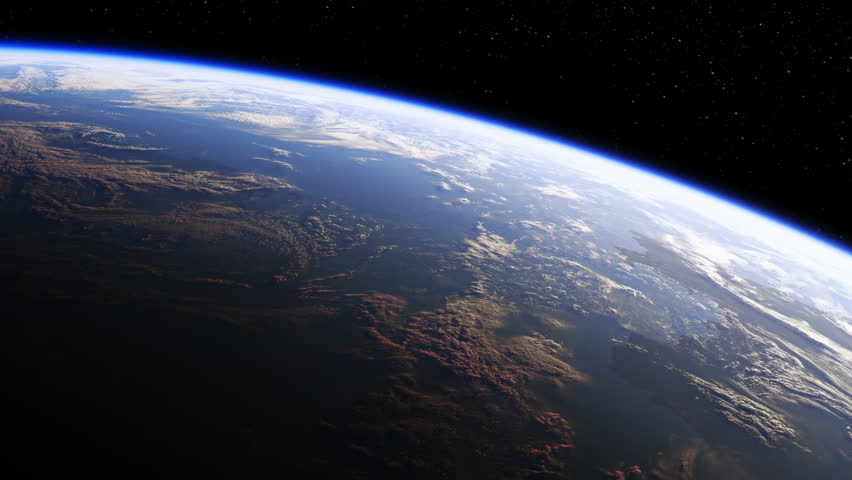 Amazing View Of Planet Earth From Space. Ultra High Definition. 4K. 3840x2160. Seamless Looped. Realistic 3d Animation.
