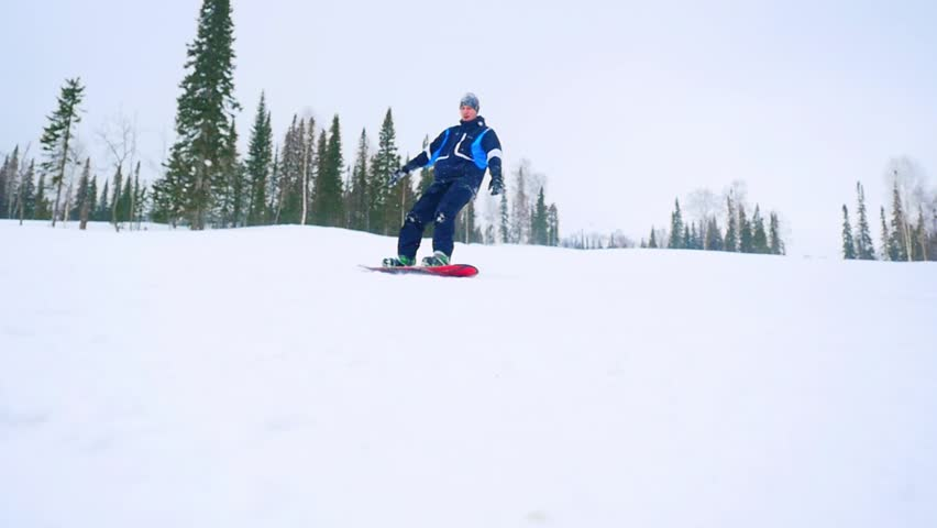 Santa Claus Shredding In Snowboard Park Stock Footage ... Shredding Snow