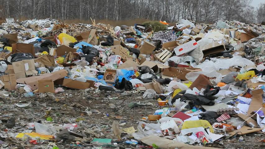 trash dump blowing by the wind 1080x1920 HD video