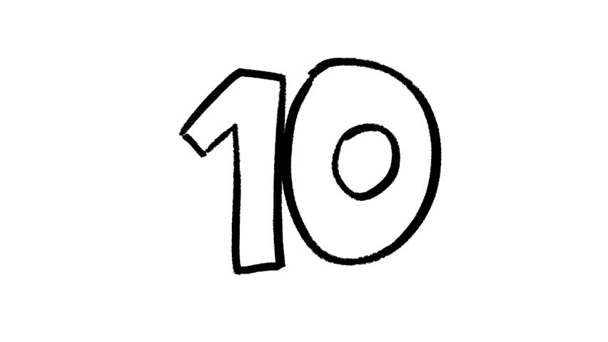 Black And White Ten Second Countdown With A Circle Reveal ...  Ten