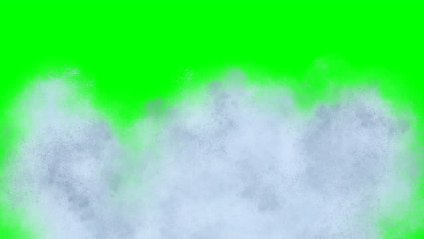 Wall of water and splashes on green screen. Falling water with great height and splashes on green screen.