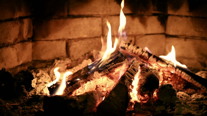 Burning Flame Fire In Fireplace Stock Footage Video 12401114